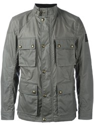 Belstaff 'Trialmaster' Waxed Jacket Green