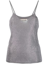 Zadig And Voltaire Rhinestone Deep V Neck Vest Grey