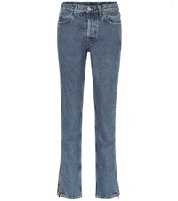 Vetements High Rise Slim Jeans Blue