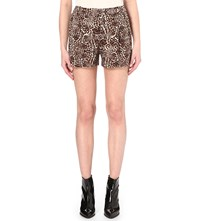 The Kooples Animal Print Shorts Leopard