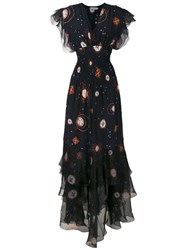Isolda Silk Pri Long Dress Black