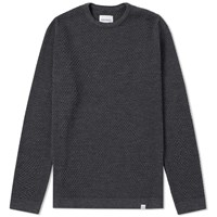 Norse Projects Skagen All Over Bubble Knit Grey