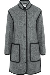 Mih Jeans The Blanket Wool Blend Coat Gray