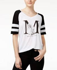 Freeze 24 7 Marilyn Monroe Juniors' Beauty Sporty Graphic T Shirt Black White