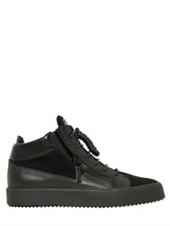 Giuseppe Zanotti Zip Up Leather And Suede Mid Top Sneakers