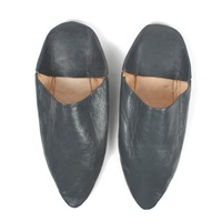 Bohemia Design Pointed Babouche Slippers Grey