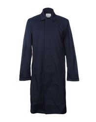 Bolongaro Trevor Overcoats Dark Blue