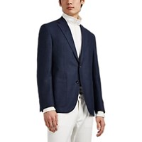 Barneys New York Brad Wool Two Button Sportcoat Dk. Blue