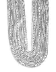 Abs By Allen Schwartz Out Last Night Multi Row Torsade Necklace Silver