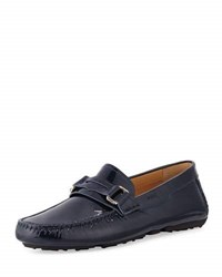 Bally Druh Patent Penny Loafer Blue