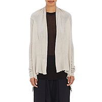 Rick Owens Women's Virgin Wool Cascade Cardigan Light Grey