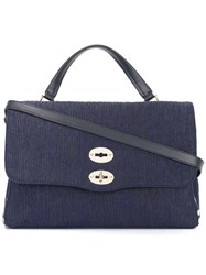Zanellato Postina Medium Tote Blue