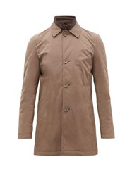 Herno Single Breasted Shell Car Coat Light Brown