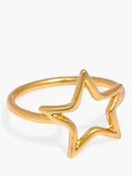 Madewell Open Star Ring Gold
