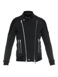 Balmain Cotton Jersey Biker Jacket