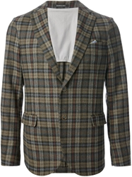 Manuel Ritz Checked Blazer Brown