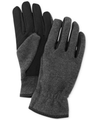 Fownes Ur Gloves Sweater Knit Stretch Tech Palm Gloves 1 Charcoal