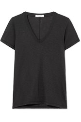 Rag And Bone The Vee Pima Cotton Jersey T Shirt Black