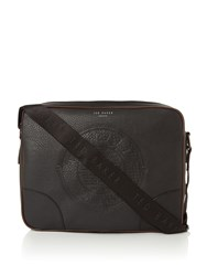 Ted Baker Embossed Pu Messenger Bag Black