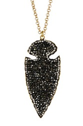 Druzy Arrowhead Pendant Necklace Black