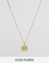 Ottoman Hands L Initial Pendant Necklace Gold