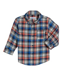Mayoral Long Sleeve Gingham Poplin Shirt Size 3 24 Months Red