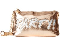 Betsey Johnson Kitch Light Up Crossbody Party Rose Gold Cross Body Handbags