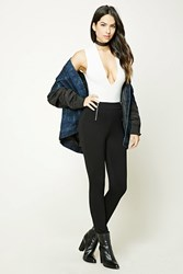 Forever 21 Stretch Knit Skinny Pants Black