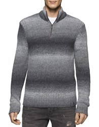 Calvin Klein Jeans Space Dyed Quarter Zip Sweater Grey