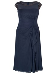 Chesca Sequin Waterfall Dress Blue