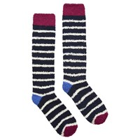 Joules Fabfluffy Knee High Socks Pair Of 1 Ruby