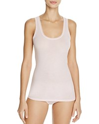 Fine Lines Pure Cotton Wide Strap Tank Ice Pink