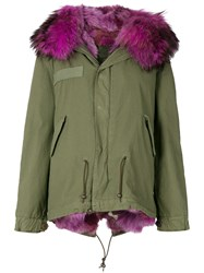 Mr And Mrs Italy Fur Lined Short Parka Green