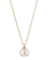 Majorica White Pearl Pendant Necklace
