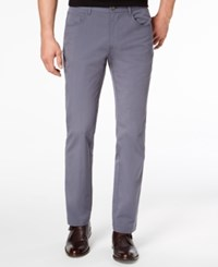 Inc International Concepts I.N.C. Men's Stretch Slim Fit 5 Pocket Created For Macy's Thunder