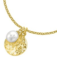 Dower And Hall Pearlicious Disc Pearl Pendant Necklace Gold