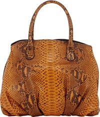 Zagliani Python Passage Shoulder Bag Yellow