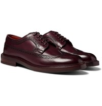 Brunello Cucinelli Polished Leather Longwing Brogues Burgundy