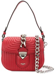 Moschino Chain Designed Satchel Bag Red
