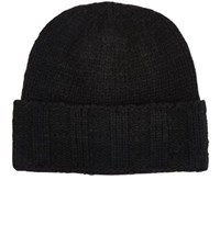 The Elder Statesman Men's Fisher Phil Cashmere Cap Black