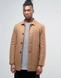 Selected Wool Trench Coat Tan