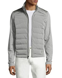 Ralph Lauren French Terry Full Hybrid Jacket Light Gray