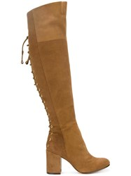 Rachel Zoe Lace Up Detailing Boots Brown