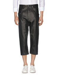 Rick Owens Denim Capris Black