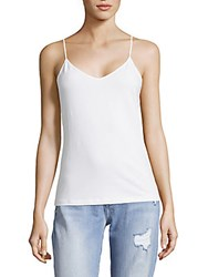 Saks Fifth Avenue Black V Neck Camisole Light Grey