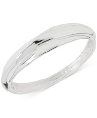 Robert Lee Morris Soho Silver Tone Sculpted Hinged Cuff Bracelet