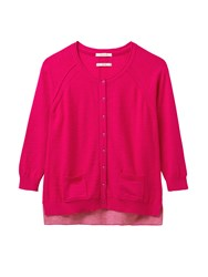 White Stuff Bloom Button Cardi Pink