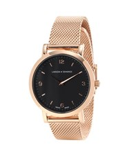 Larsson And Jennings Lugano 33Mm Rose Gold Plated Watch Pink