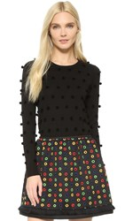 Lisa Perry Pom Pom Sweater Black