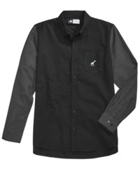 Lrg Men's Classics Two Tone Oxford Shirt Black